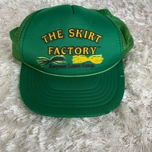 Vtg Fly Lure Mesh Trucker Hat Green OSFA